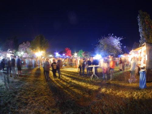 Ein verzerrtes Fischaugen-Bild vom Lichterfest